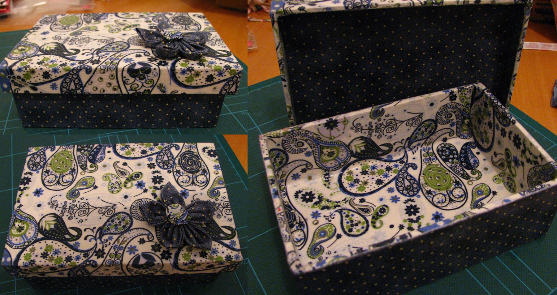 resultado da caixa de madeira decorada em tecido que eu fiz no curso  #B26118 1800x954