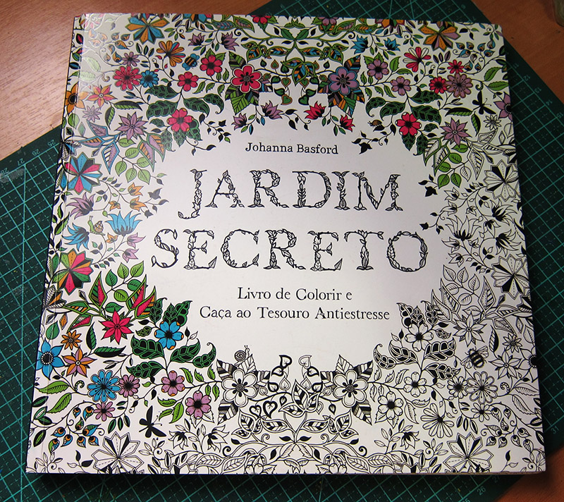 fotos do livro jardim secreto : fotos do livro jardim secreto:Eu vim falar um pouco do livro e do material que estou usando..